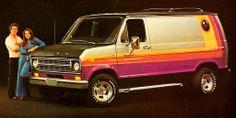 1975 Ford E-150 bull-nose Econoline van w/ Free wheelin'  package paint scheme