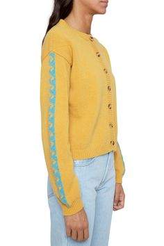 Mustard Cardigan, Wool Cardigan, Knitwear, Men Sweater, Turquoise, Pullover, Model, Sweaters, How To Wear