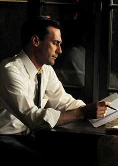 "Don Draper: ""I hate to break it to you but there is no big lie. There is no system. The universe is indifferent."""