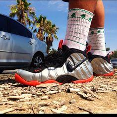 Paradise  #Kicks #Nike #Foams #Foamposite #Sneakers #Sneakerhead #kotd #wdywt #sockgame #socks #theforestlab #swaag #heat #fresh #justdoit