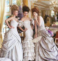 Ian Stuart 2011 Revolution Rocks! bridal collection - Libertine, Castille, Dauphine wedding gowns for a Marie Antoinette inspired wedding