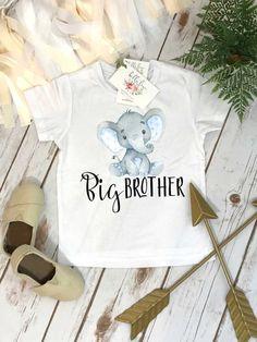 a03bd967e Big Brother Shirt, Elephant Shirt, Brothers Shirts, Big Brother Bear Shirt,  Baby Reveal, Big Brother