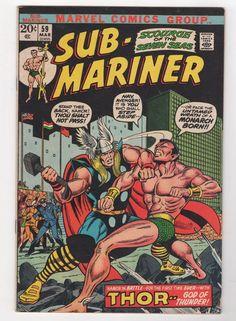 Sub Mariner 59 First Battle w Thor 1973 Marvel Comics VF   eBay