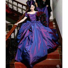 Dita Von Teese in Vivian Westwood wedding dress