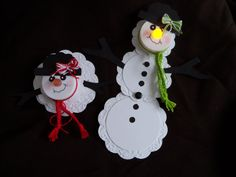 snowman with battery operated tea light