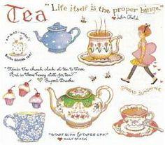 Tea art by Susan Branch. Branch Art, Tea Quotes, Buch Design, Food Stickers, Cuppa Tea, Tea Art, My Cup Of Tea, Food Illustrations, High Tea