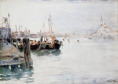 Venice, watercolor over traces of pencil by Elizabeth Nourse, 1891