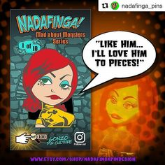 #Repost @nadafinga_pins is just starting up and heres the design of their very first pin! Kick ass isnt it!?  More info from the makers: Production has begun on our wonderful 'Masterpiece' Francesca! Estimated release date is September 5th just in time for Halloween! Stay tuned for more monster madness! Store link in bio. #nadafingapins #gonzopinculture #pins #lapelpins #custompins #enamelpins #pingame #pingamestrong #pinstgram #pinaddict #pincollector #pincollecting #lowbrow…