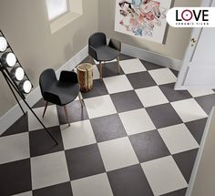Chess Floor by Love Tiles Collection Blend #ceramictiles