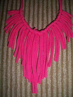 diy tee fringe necklace