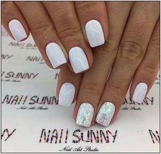 141 simple summer nails colors designs 2019 page 1 Short Nail Designs, Colorful Nail Designs, Acrylic Nail Designs, Colorful Nails, Milky Nails, Stylish Nails, Perfect Nails, Nail Polish Colors, White Nails