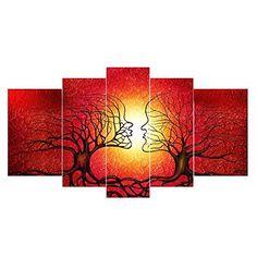 Gardenia Art Graceful Red Maple Canvas Prints Modern Wall Art ...