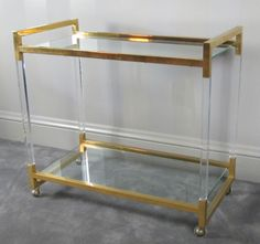 Lucite bar cart-- Hello, lover!