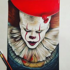 Likes, 13 Comments - - Scary Drawings, Cool Art Drawings, Realistic Drawings, Colorful Drawings, Art Sketches, Clown Horror, Arte Horror, Horror Art, Pennywise Painting