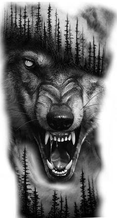 Informations About ( Wolf Tattoos Men, Black Ink Tattoos, Animal Tattoos, Black And Grey Tattoos, Tattoos For Guys, Wolf Tattoo Forearm, Wolf Tattoo Sleeve, Best Sleeve Tattoos, Tattoo Sleeve Designs