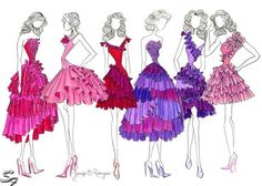Useful suggestions on drawing fashion design, with tips and examples of fashion design drawings to help you! Fashion Book with fashion design drawing Fashion Art, Retro Fashion, Love Fashion, Fashion Online, Fashion Design, Fashion Clothes, High Fashion, Fashion Shoes, Fashion Trends