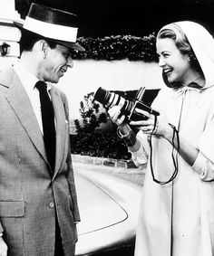 Frank Sinatra & Grace Kelly on the set of High Society