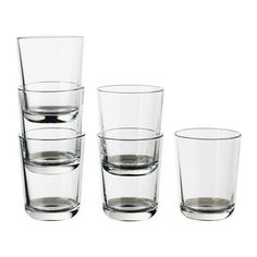IKEA - IKEA 365+, Glass, 20 cl, , Also suitable for hot drinks.Made of tempered glass, which makes the glass durable and extra resistant to impact.Can be stacked inside one another to save space in your cabinets when not in use.