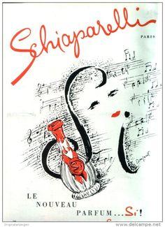 Original-Anzeige /Publicité 1957 - (en français) PARFUM SCHIAPARELLI - ca. 200 x 270 mm