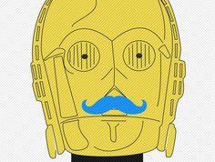 'Mustache Wars' Incorporates Facial Hair Onto George Lucas Characters #movember trendhunter.com