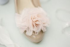 Makeover your heels with this chiffon shoe clip DIY. Click HERE to see the full DIY with lots of pictures.