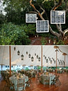 seating chart and tent lanterns -- Have your wedding video done by www.gracenotefilms.com