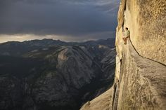 free climber and california`s yosemite valley  #amazing #cliff