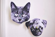 Pet photo wall clocks