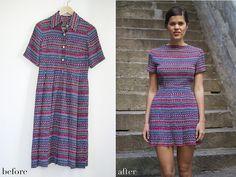 Before & After: DIY Printed Mini Dress