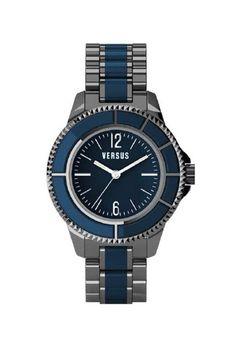 Šedo-modré hodinky Versus by Versace Tokyo