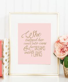 Its a motivational poster with a sweet blush backdrop. Its a great choice as your kids room or nursery decor. It will inspire them to go ahead and achieve their dreams even if they had to struggle. -