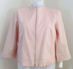 "NEW w/TAGS CITY GIRL FOR ""DRAPER'S & DAMON'S"" PINK JACKET - SEE ALL PICTURES #DRAPERSDAMONS #BasicJacket"