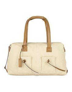 PGucci Ecru Canvas and Leather Satchel Bag #satchel #gucciogucci #gucci #women #designer #covetme
