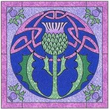 Celtic Thistle Wall Hanging Pattern by Celtic Crossworks