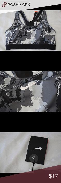 Nike pro 360 sports bra size XS Brand new Nike pro sports bra size XS. Black, grey & white. Nike Other