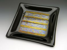 Unique glass  tableware  | Custom Made Contemporary Fused Glass Trivets/Dessert Plates Dining Ware, Stained Glass Designs, Fused Glass, Plates, Contemporary, Tableware, Desserts, Unique, Image