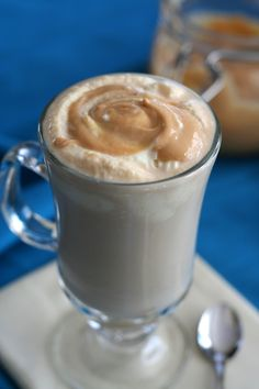 I do love my Starbucks, but making my own Salted Caramel Latte was not only fun but much lower carb and healthier!