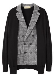 (toga pulla | check knit jacket) japanese designers at the top of the layering game. as usual.