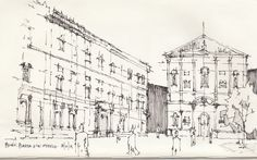 Croquis - Milan - por Facundo Alvarez