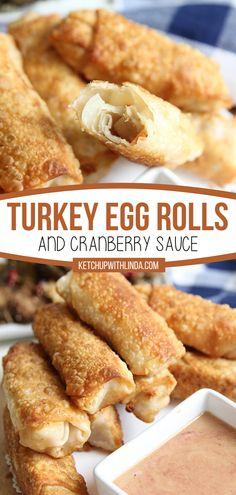 Want to know the best part of Thanksgiving? Using up the leftovers! Time to get creative and turn them into these Turkey Egg Rolls with Cranberry Sauce. Impress family and friends with these perfect little appetizers! You'll want to make this recipe again and again! Appetizer Recipes, Snack Recipes, Appetizers, Easy Recipes, Yummy Food, Tasty, Leftover Turkey, Cranberry Sauce, Savory Snacks