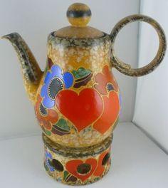 Art Deco D. Urbach ceramic teapot