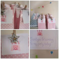 Easy princess party thank you bags