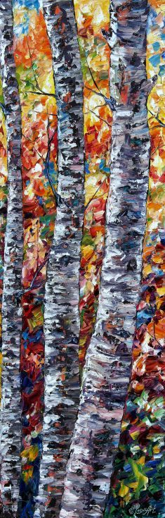 ARTFINDER: Aspen Up by Lena  Owens - Palette knife, oil impasto.. OLena Art  My palette knife oil impasto textured technique has emerged as my favorite medium for the present moment. I also en...
