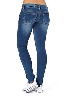 image of Sandblasted Brushed Skinny Jean