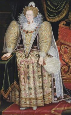 Portrait of Elizabeth I, by Marcus Gheeraerts the Younger. ©Trinity College, University of Cambridge, supplied by the Public Catalogue Foundation Elizabethan Fashion, Renaissance Fashion, Elizabethan Gown, Elizabeth I, Elizabeth Movie, Tudor History, British History, European History, Veronique Branquinho