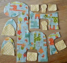 step 3 cut shapes giraffe soft toy free tutorial pattern riley blake giraffe crossing