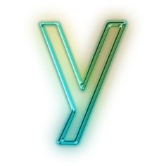 Download Free Letter Y Glowing Green Neon Icon ~ Icons Etc.
