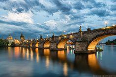 Bohemian Sky || Prague, Czech Republic by blame_the_monkey, via Flickr