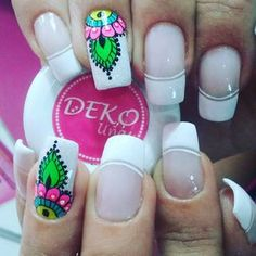 On clear nails tho Clear Nails, Manicure And Pedicure, Diana, Nail Designs, Lily, Nail Art, Beauty, Veronica, San Diego