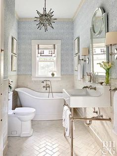 Gather some inspiration for your own bathroom makeover with these traditional bathroom design ideas.